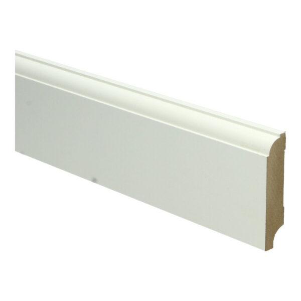 MDF Eigentijdse plint 70x15mm wit voorgelakt RAL 9010