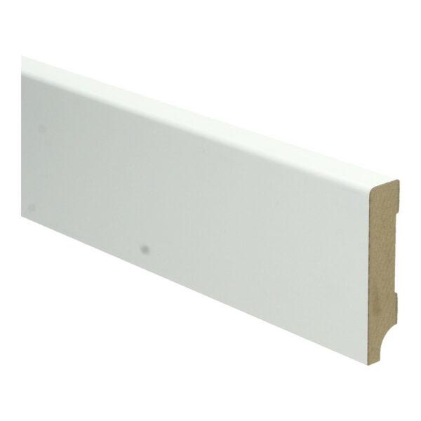 MDF Moderne plint 70x12mm wit voorgelakt RAL 9010